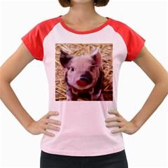 Sweet Piglet Women s Cap Sleeve T-Shirt