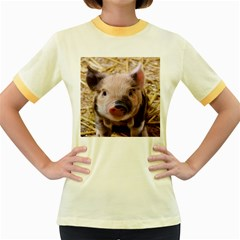 Sweet Piglet Women s Fitted Ringer T-Shirts