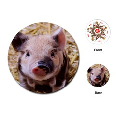 Sweet Piglet Playing Cards (round)