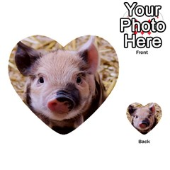 Sweet Piglet Multi-purpose Cards (Heart)
