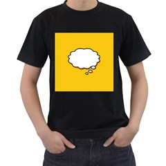 Comic Book Think Men s T-Shirt (Black) (Two Sided)