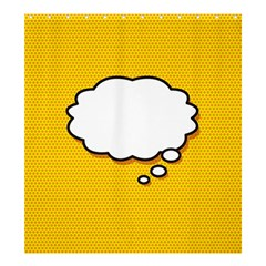 Comic Book Think Shower Curtain 66  x 72  (Large)