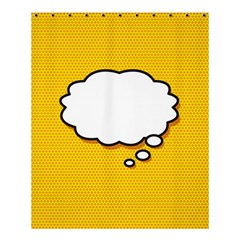 Comic Book Think Shower Curtain 60  x 72  (Medium)