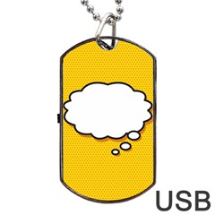 Comic Book Think Dog Tag USB Flash (One Side)