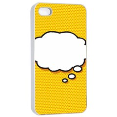 Comic Book Think Apple iPhone 4/4s Seamless Case (White)