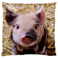 Sweet Piglet Large Flano Cushion Cases (one Side)