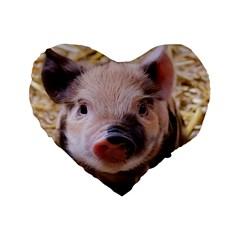 Sweet Piglet Standard 16  Premium Flano Heart Shape Cushions