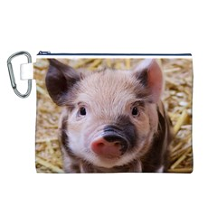 Sweet Piglet Canvas Cosmetic Bag (L)