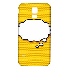 Comic Book Think Samsung Galaxy S5 Back Case (White)