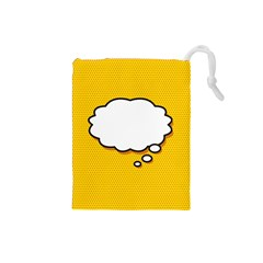 Comic Book Think Drawstring Pouches (small)