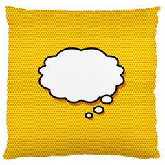 Comic Book Think Large Flano Cushion Cases (Two Sides)