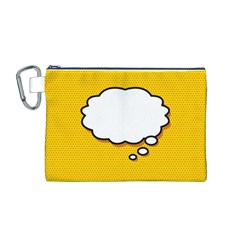 Comic Book Think Canvas Cosmetic Bag (M)