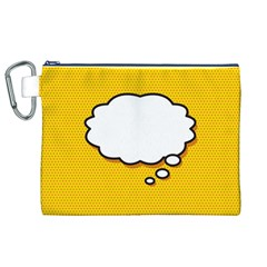 Comic Book Think Canvas Cosmetic Bag (XL)