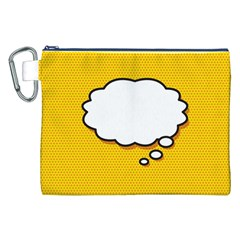 Comic Book Think Canvas Cosmetic Bag (xxl)