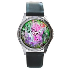 Abstract Music  Round Metal Watches