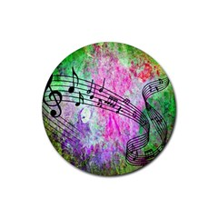 Abstract Music  Rubber Round Coaster (4 Pack)