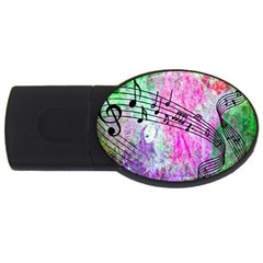 Abstract Music  Usb Flash Drive Oval (4 Gb)