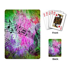 Abstract Music  Playing Card