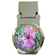 Abstract Music  Money Clip Watches