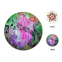 Abstract Music  Playing Cards (round)
