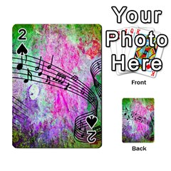Abstract Music  Playing Cards 54 Designs