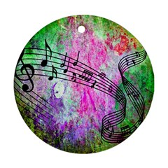 Abstract Music  Round Ornament (two Sides)