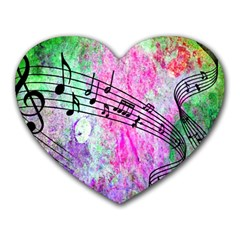 Abstract Music  Heart Mousepads