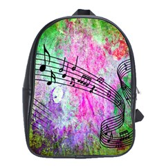 Abstract Music  School Bags(large)