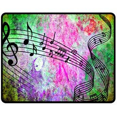 Abstract Music  Fleece Blanket (Medium)