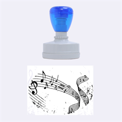 Abstract Music  Rubber Oval Stamps