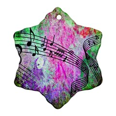Abstract Music  Snowflake Ornament (2 Side)