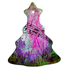 Abstract Music  Christmas Tree Ornament (2 Sides)