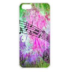Abstract Music  Apple Iphone 5 Seamless Case (white)