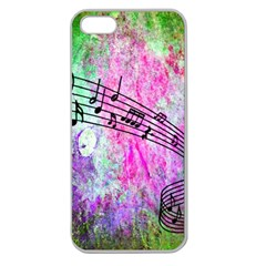 Abstract Music  Apple Seamless Iphone 5 Case (clear)