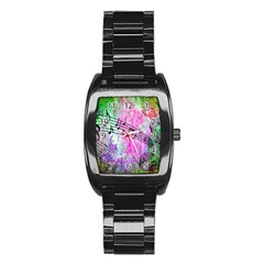 Abstract Music  Stainless Steel Barrel Watch