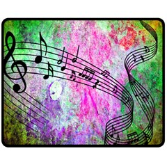 Abstract Music  Double Sided Fleece Blanket (Medium)