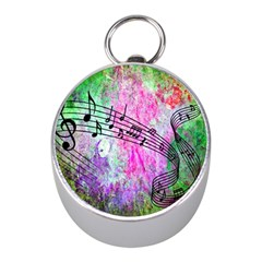 Abstract Music  Mini Silver Compasses