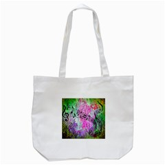 Abstract Music  Tote Bag (white)