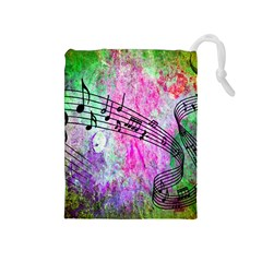 Abstract Music  Drawstring Pouches (medium)
