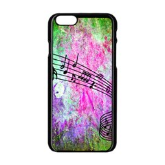 Abstract Music  Apple Iphone 6 Black Enamel Case