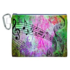 Abstract Music  Canvas Cosmetic Bag (xxl)