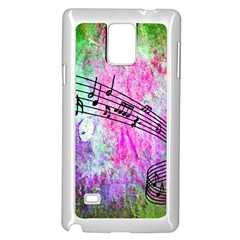 Abstract Music  Samsung Galaxy Note 4 Case (White)