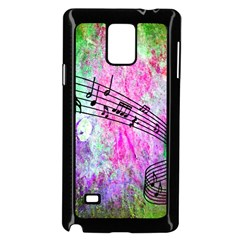 Abstract Music  Samsung Galaxy Note 4 Case (Black)
