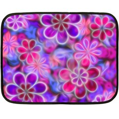 Pretty Floral Painting Fleece Blanket (Mini)