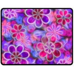 Pretty Floral Painting Fleece Blanket (Medium)