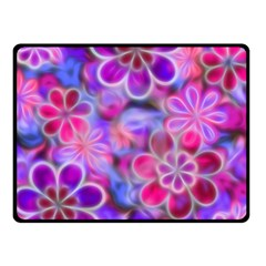 Pretty Floral Painting Fleece Blanket (Small)