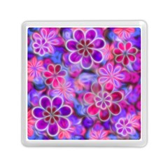 Pretty Floral Painting Memory Card Reader (Square)
