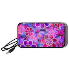 Pretty Floral Painting Portable Speaker (Black)
