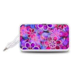 Pretty Floral Painting Portable Speaker (White)