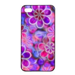 Pretty Floral Painting Apple iPhone 4/4s Seamless Case (Black)